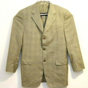 Canali Proposta Brown Herringbone Wool Sport Coat